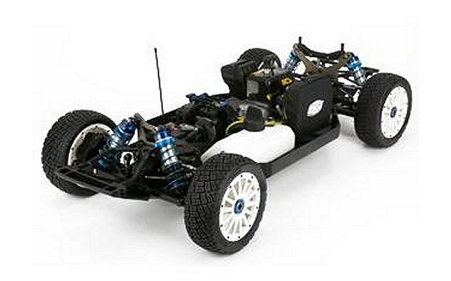 Losi 5ive Mini Wrc on scrap electric motors