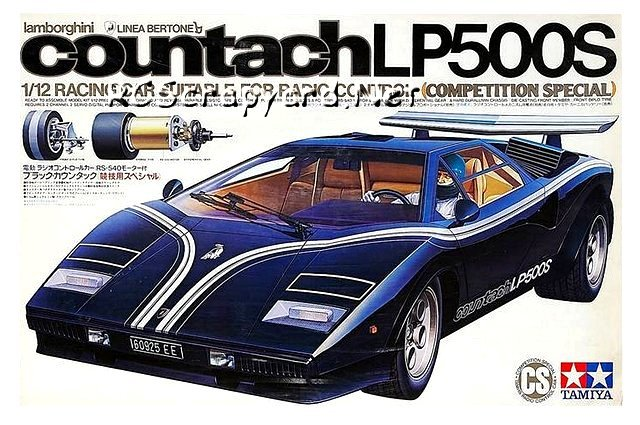 Tamiya Lamborghini Countach LP500S (CS)   #58008   1:12 Electric Model