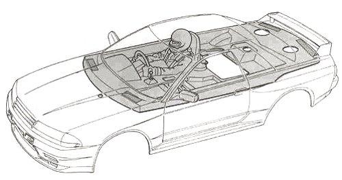 Tamiya Axia Skyline GT-R Gr.A #58120 TA-01 Body Shell