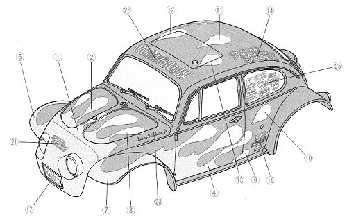 Tamiya Blitzer Beetle #58122 Body Shell