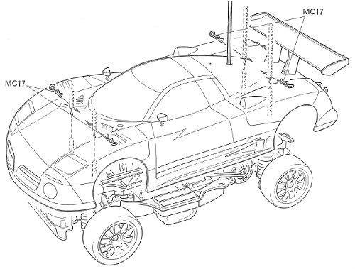 Tamiya Nissan R390 GT1 #58203 TA-03R Body Shell