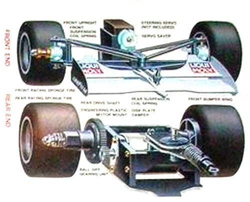 Tamiya F103 Chassis Front and Rear
