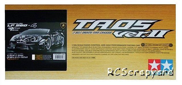 Tamiya Lamborghini Gallardo LP560 4 Super Trofeo - #58456 TA05 Ver.II