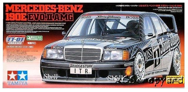 Tamiya Mercedes Benz E Evo Ii Amg Tt on 1991 Mercedes Benz 190e Parts