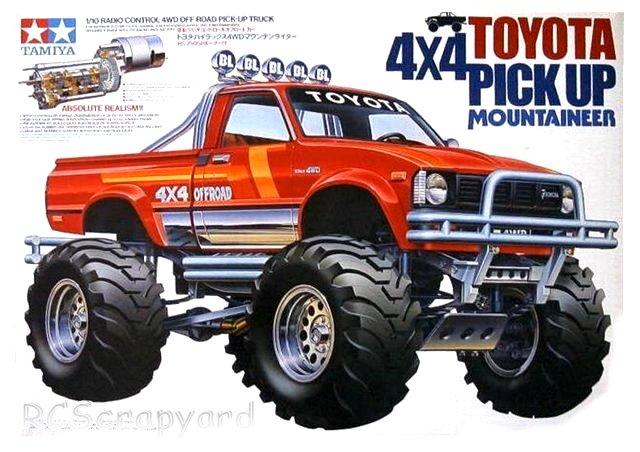 Tamiya Toyota 4x4 Pick Up Mountaineer 58111 Rcscrapyard