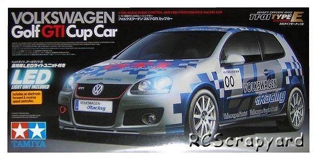 Tamiya Volkswagen Golf Gti Cup Car 58410 Tt 01e