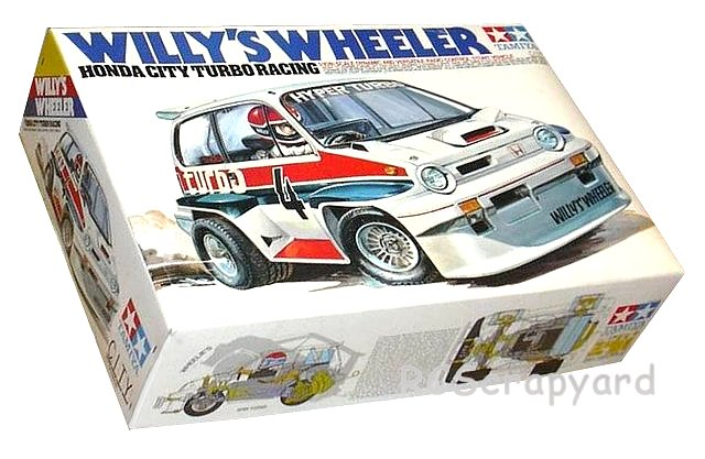 Tamiya Willys Wheeler, Honda City Turbo Racing, Stunt Car - #58039