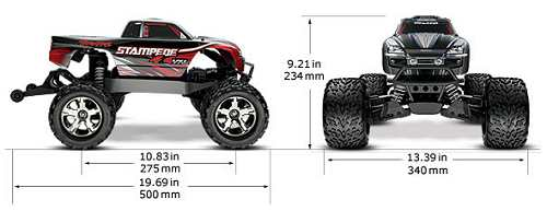 traxxas stampede 4x4 vxl  u2022  radio controlled model archive