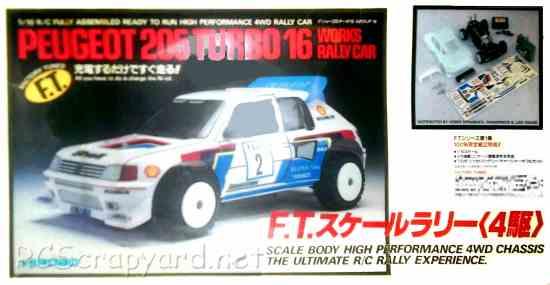 Hirobo Peugeot 205 Turbo 16 World Rally Car