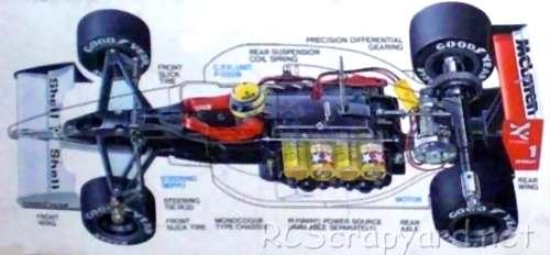 Tamiya McLaren MP4/6 Chassis