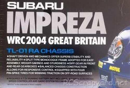 Tamiya Subaru Impreza WRC 2004, Rally of Great Britain Chassis