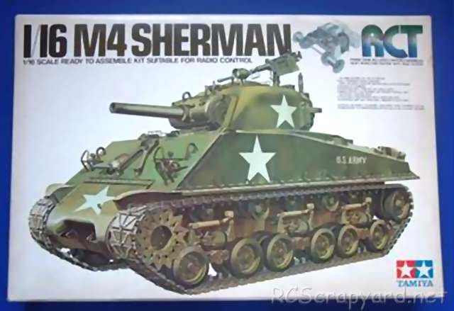 56001 • Tamiya M4 Sherman 105mm Howitzer • (Radio Controlled