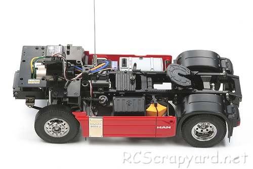 Tamiya MAN TGX 18.540 4x2 XLX Chassis
