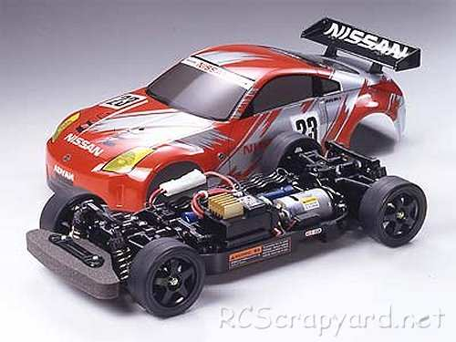 57034 Tamiya Nissan 350z Race Car Complete Kit Tt 01