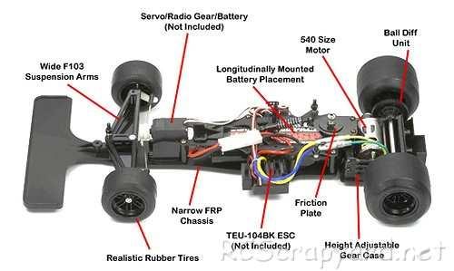 Tamiya F104W Chassis