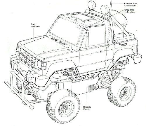 Tamiya Mitsubishi Pajero #58044 Body Shell