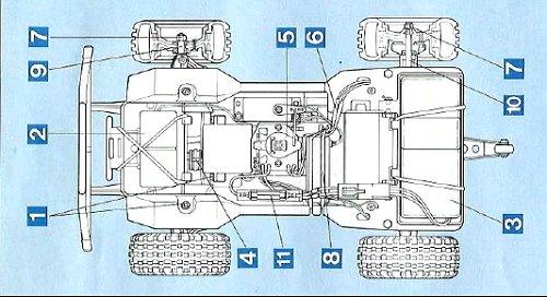 Tamiya Mitsubishi Pajero #58044 Chassis