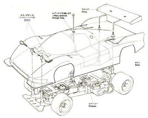 58049 Tamiya Toyota Toms Rm Mk 6 Radio Controlled Model