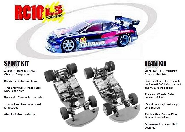 Team Associated RC10L3 Touring - 1:10 Electric RC Pan Car