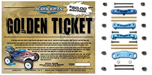 Team Associated RC8T Factory Team LE JConcepts Golden Ticket