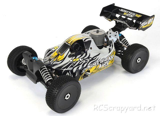 CARSON carrosserie argent 1:8 Buggy pour Spectre x8n