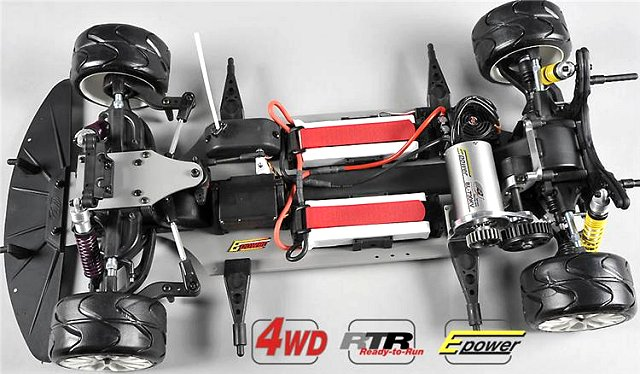 FG Sportsline 510E - 1:5 Electric RC Touring Car Chassis