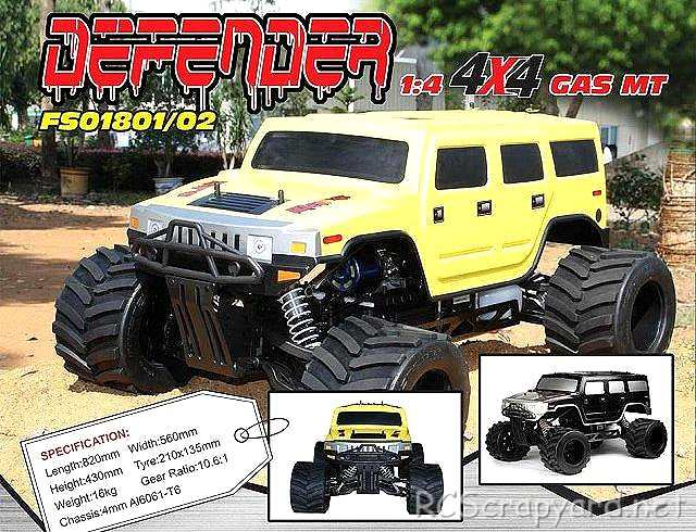 FS Racing Defender 4x4 - 1:4 Gas Monster Truck