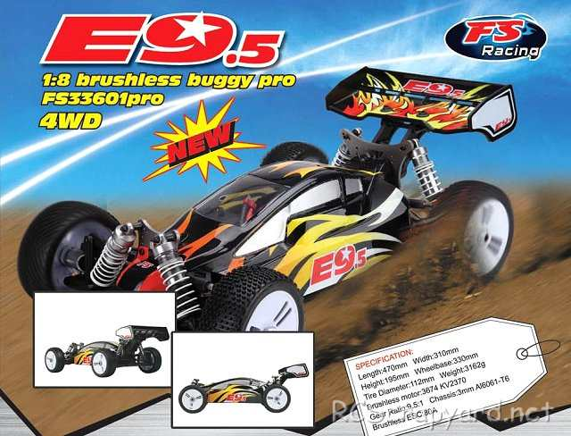 FS Racing E9.5 - 1:8 Brushless Buggy