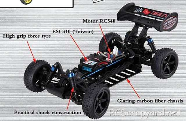 FS-Racing EB-4 - 1:10 Electric Buggy Chassis