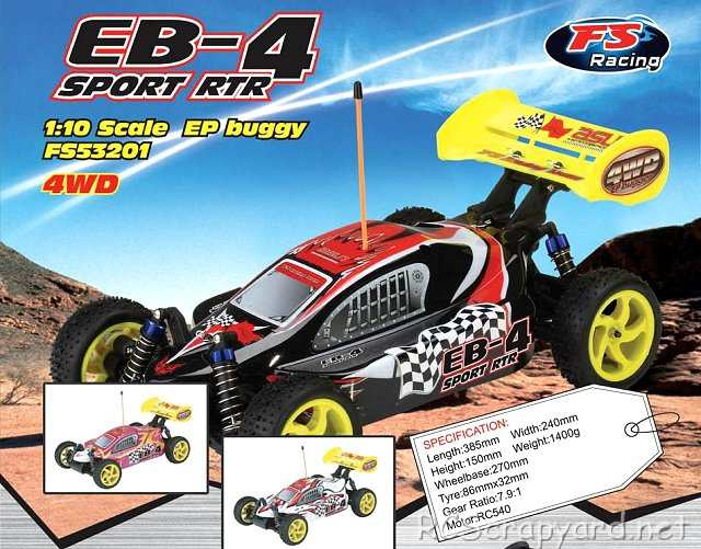 FS-Racing EB-4 - 1:10 Electric Buggy