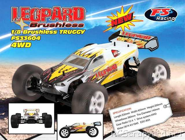 FS Racing Leopard - 1:8 Electric Truggy