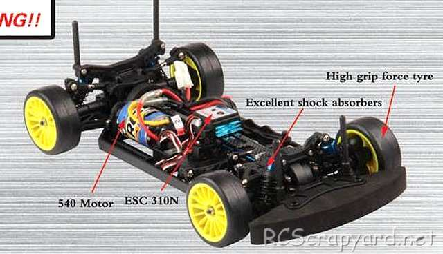 FS-Racing NTE-4 - 1:10 Electric Touring Car Chassis