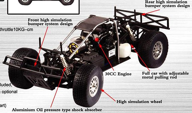 FS Racing Rally 5T - 1:5 Nitro Truck Chassis