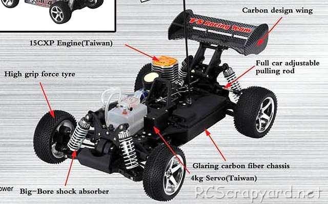 FS Racing Spirit 2.0 - 1:10 Nitro Buggy Chassis
