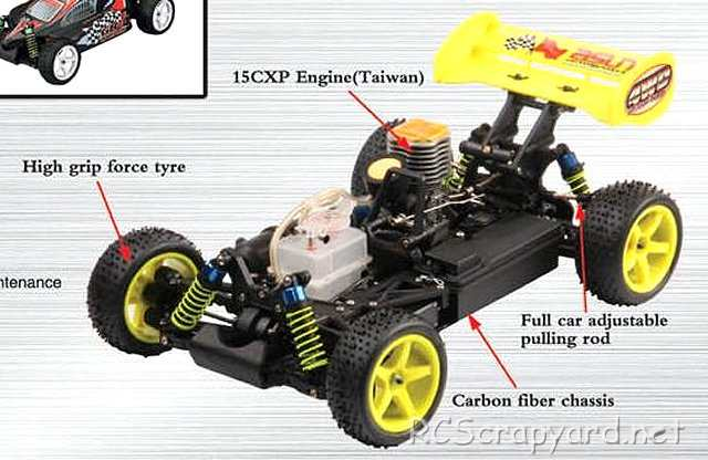 FS Racing Spirit - 1:10 Nitro Buggy Chassis
