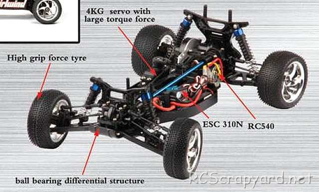 FS-Racing Whirlwind -1:10 Electric Buggy Chassis