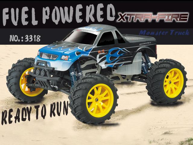HBX Xtra-Fire - 1:10 Nitro Monster Truck