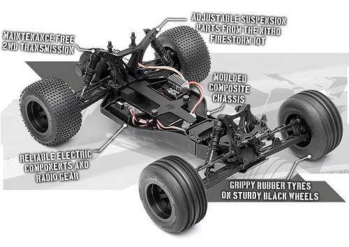 HPI Racing E-Firestorm 10T Chassis