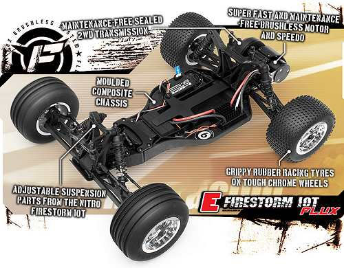 HPI Racing E-Firestorm 10T Flux Chassis