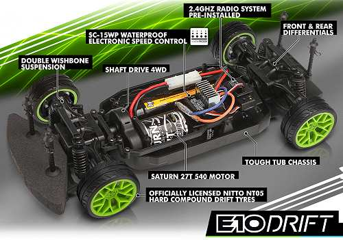 HPI Racing E10 Drift Chassis