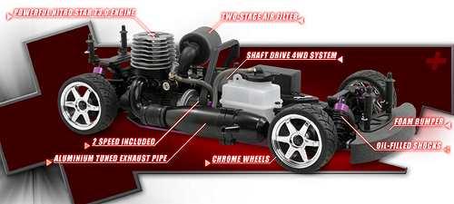 HPI Racing Nitro RS4 3 Evo+ Chassis