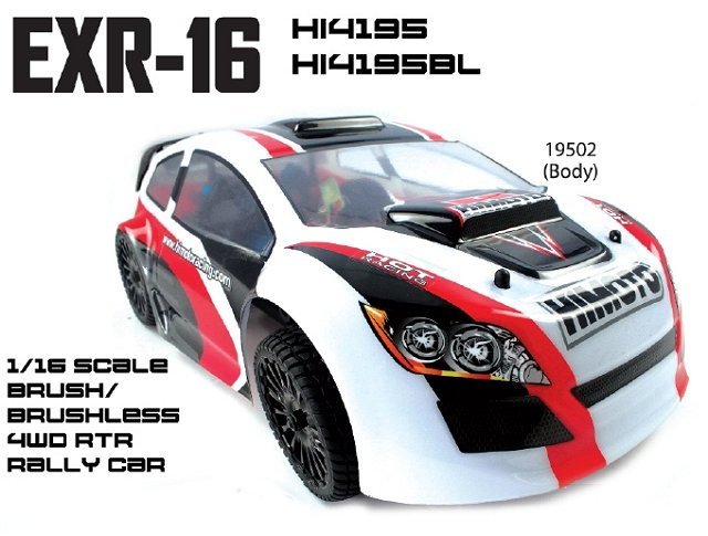Himoto EXR-16 - 1:16 Electric Rally Car