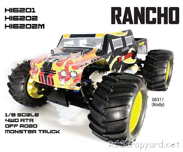 Himoto Rancho - 1:8 Nitro Monster Truck