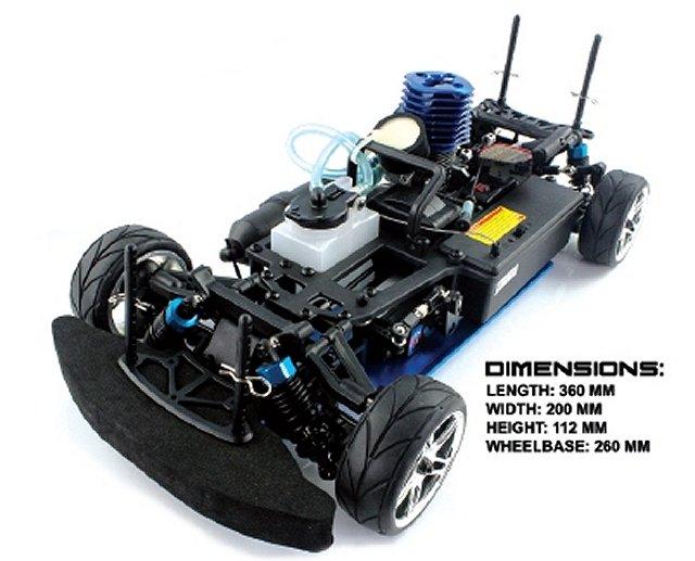 Himoto Taipan XRS Chassis - 1:10 Nitro Touring Car