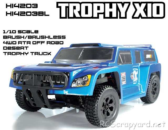 Himoto Trophy X10 - 1:10 Electric Truck