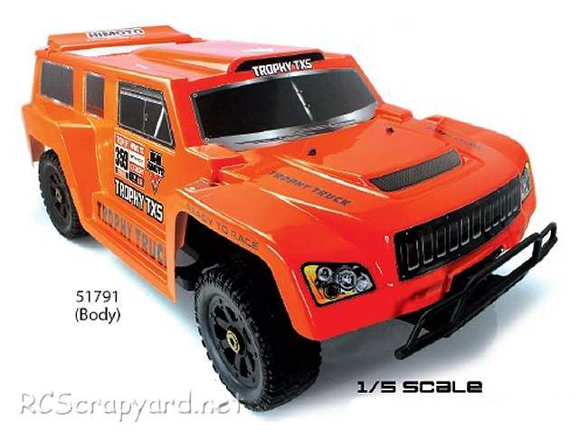 Himoto Trophy X5 - 1:5 Electric RC Truck