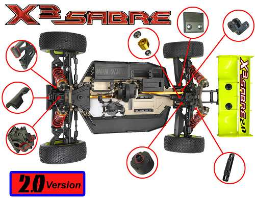 Hong Nor X3-Sabre 2.0 Buggy Chassis