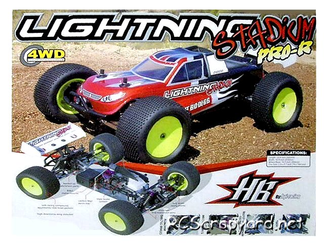 Hot Bodies Lightning Stadium Pro R - 1:8 Nitro Truck