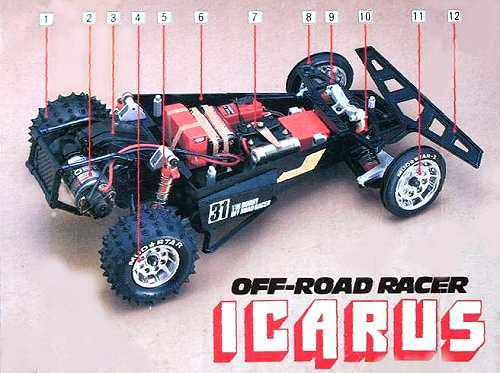 Kyosho Icarus Chassis