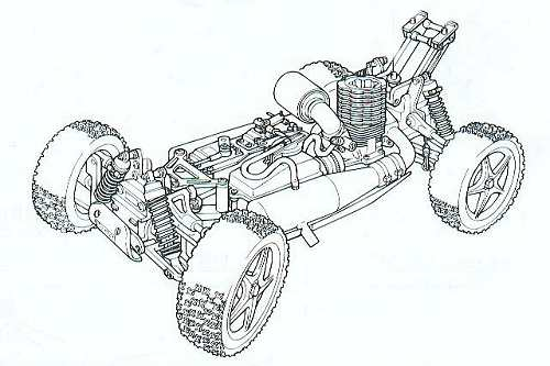 Kyosho Inferno MP6 Chassis